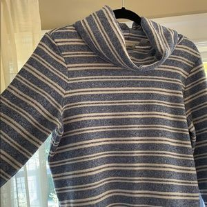 LL Bean • striped turtleneck sweater